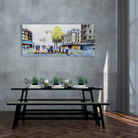 Dipinto originale Boulevard 65x150 cm
