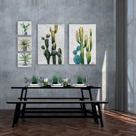 Quadro dipinto a mano Cactus 60x90 cm