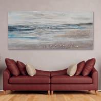 Quadro dipinto a mano Mare 80x180 cm