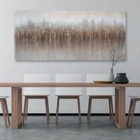 Quadro dipinto a mano Astrat 80x180 cm