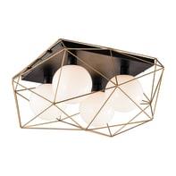 Plafoniera glamour Abraxas nero e oro, in metallo, 51x62.5 cm, 4  luci