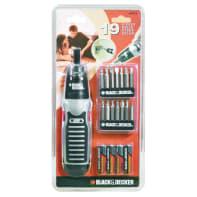Kit di utensili BLACK+DECKER A7073-XJ 19 pezzi