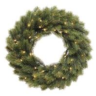 Corona di Natale in pvc H 7.6 cm, L 36.8 cm  x P 36.8 cm  Ø 40 cm