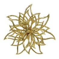 Decorazione per albero di natale Fiore in plastica oro Ø 14 cm