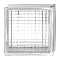 Vetromattone BORMIOLI Incrociato trasparente incrociato H 19 x L 19 x Sp 8 cm