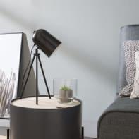 Lampada da tavolo Design Ariane nero, in metallo, INSPIRE