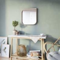 Specchio a parete ovale Leaf rovere 40x40 cm INSPIRE
