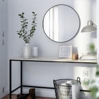Specchio a parete tondo Circle nero 52x52 cm 50 cm INSPIRE