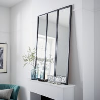 Specchio a parete rettangolare Atelier nero 85x115 cm INSPIRE