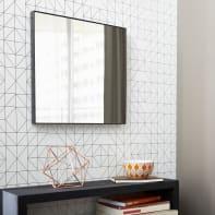 Specchio a parete quadrato Jo nero 30x30.6 cm INSPIRE