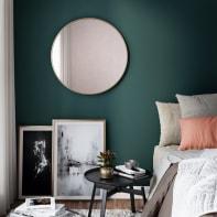 Specchio a parete tondo Glam oro 61x61 cm 60 cm INSPIRE
