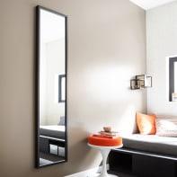 Specchio a parete rettangolare Pure nero 40x160 cm INSPIRE