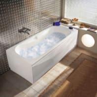 Vasca idromassaggio rettangolare Egeria,bianco ,170, 75 cm, 6 bocchette,