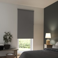 Tenda a rullo INSPIRE Tokyo oscurante grigio scuro 200x250 cm