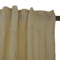 Tenda Augusta beige fettuccia con passanti nascosti 140 x 300 cm