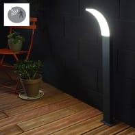 Lampioncino Lakko H56cm LED integrato in alluminio grigio 11W 1200LM IP44 INSPIRE