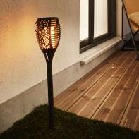 Lampioncino solare Nanuta LED integrato H79cm nero 0.5W 35LM IP44 INSPIRE