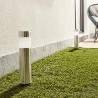 Lampioncino solare Praia LED integrato H39cm argento 0.06W 2LM IP44 INSPIRE