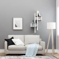 Mensola Lanzarote L 49 x P 20 cm, Sp 20 cm bianco e nero