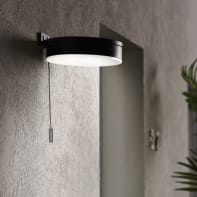 Applique a soffitto Kampala LED integrato in plastica nero 3W 250LM IP44 INSPIRE