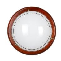 Plafoniera rustico Rigo marrone, in vetro,  D. 30 cm