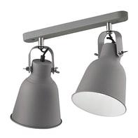 Plafoniera LEGEND-AP2GR grigio, in metallo, E27 2xIP20