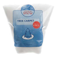 Tessuto natalizio Neve decorativa per base albero bianco