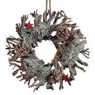 Corona di natale rami in legno  Ø 34 cm