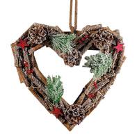 Fuoriporta cuore in legno , L 30 cm  x P 30 cm
