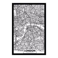Quadro dipinto a mano Quadro in plexy Londra 43x63 cm