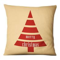 Fodera per cuscino Albero Natale beige, rosso 45x45 cm