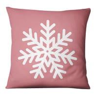 Fodera per cuscino Fiocco Neve rosa, bianco 45x45 cm