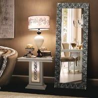 Specchio a parete rettangolare Capua argento 59x144 cm