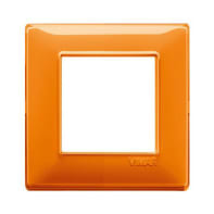 Placca VIMAR Plana 2 moduli reflex arancio