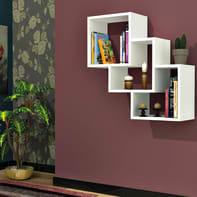 Mensola a cubo Three box L 57.9 x H 57.7 cm, Sp 25 mm bianco