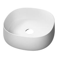 Lavabo da appoggio quadrato in ceramica L 42 x H 15 cm bianco