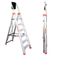 Scala doppia FARAONE Lady in alluminio 6 gradini per lavori fino a 3.13 m