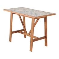 Tavolo da pranzo per giardino rettangolare Soho con piano in ceramica L 72 x P 139 cm
