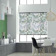 Tenda a rullo Foliage verde e bianco 60x250 cm