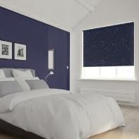 Tenda a rullo Notte stellata oscurante blu scuro 200x250 cm