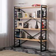 Libreria Loop 4 ripiani L 120 x P 35 x H 148.5 cm