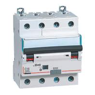 Interruttore magnetotermico differenziale BTICINO BTDIN45 4 poli 16A 4.5kA 30mA 4 moduli 380V