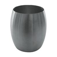 Bicchiere porta spazzolini Nigella in acciaio inossidabile argento