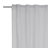 Tenda INSPIRE Abby grigio arricciatura con passanti nascosti 200 x 280 cm
