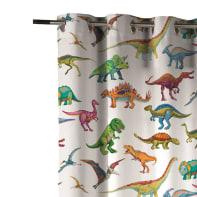 Tenda INSPIRE Dinosauri multicolore occhielli 140 x 270 cm