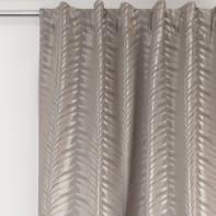 Tenda Foglie argento fettuccia con passanti nascosti 135 x 280 cm