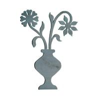 Fregio Vaso di fiori in ferro battuto L 205 x H 270 mm