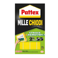 Nastro bi-adesivo PATTEX Millechiodi Tape Removibile 0.04 m x 20 mm giallo