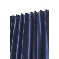 Tenda Misty blu fettuccia con passanti nascosti 135 x 280 cm