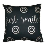 Cuscino Just smile nero 40x40 cm